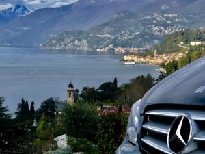 photo of Bellagio with the Bellagio taxi car